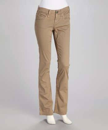 Oxford Tan Straight-Leg Pants