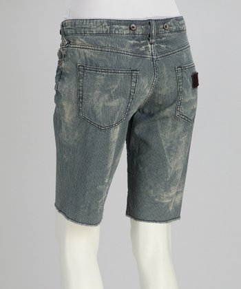 Blue Ice Jean Shorts