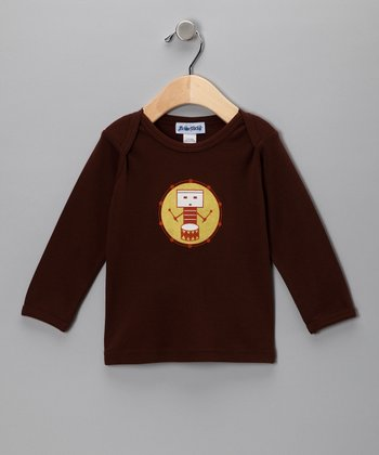 Chocolate Drum Long-Sleeve Lap Neck Tee - Infant