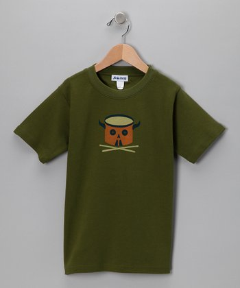 Olive Green Ratatat Tee - Toddler & Boys