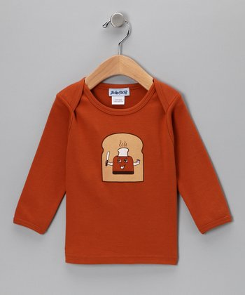 Texas Orange Toast Up Long-Sleeve Lap Neck Tee - Infant