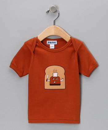 Texas Orange Toast Up Lap Neck Tee - Infant