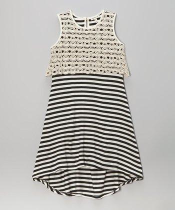 Monteau Girl Cream Midi Hi-Low Dress