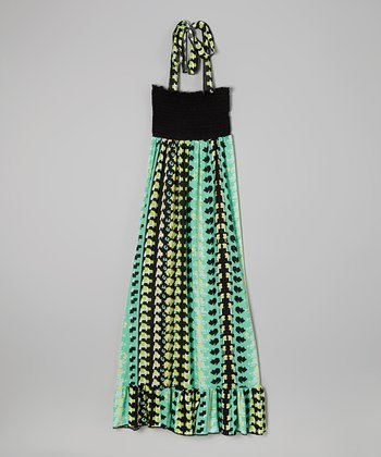 Rated G Blue & Green Movement Maxi Dress