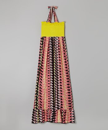 Rated G Pink & Yellow Movement Maxi Dress