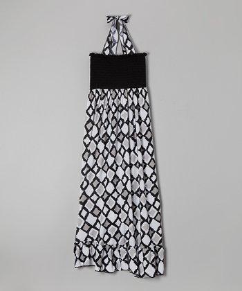 Rated G Black & White Diamond Maxi Dress