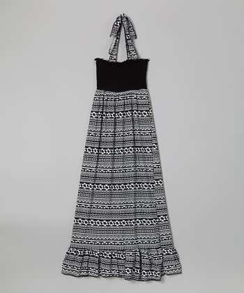 Rated G Black & White Tribal Maxi Dress