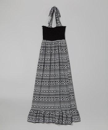 Rated G Black & White Tribal Maxi Dress