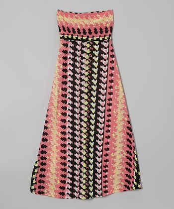 Rated G Pink & Yellow Movement Maxi Skirt