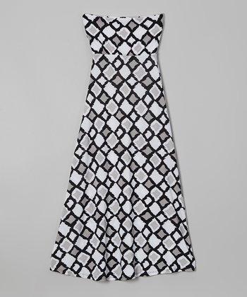 Rated G Black & White Diamond Maxi Skirt