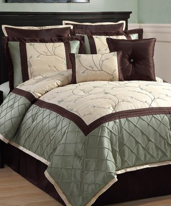 Sage Alexandria Comforter Set