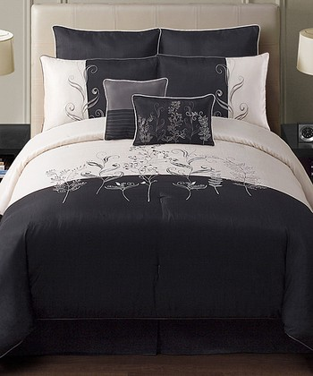 Black Amelia Comforter Set