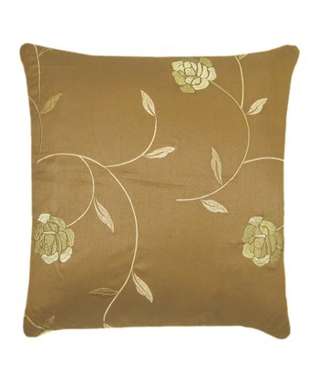 Gold & Rust Embellished Down Pillow