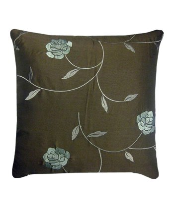 Brown & Blue Embellished Down Pillow
