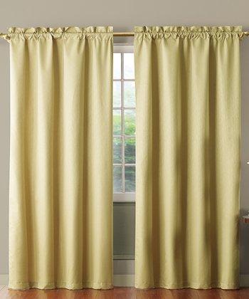 Beige Benedict Foam Back Curtain Panel