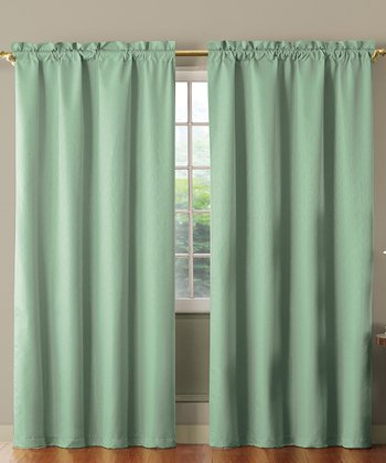 Blue Benedict Foam Back Curtain Panel