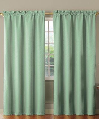 Blue Benedict Foam Back Curtain Panel