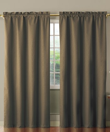 Cappuccino Benedict Foam Back Curtain Panel
