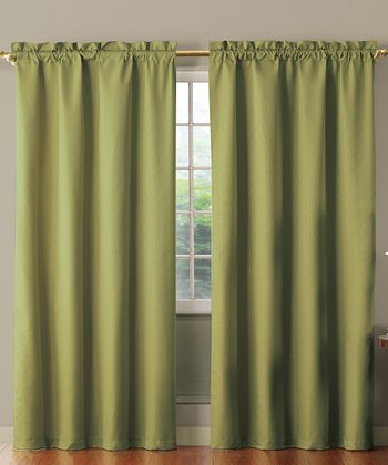 Sage Benedict Foam Back Curtain Panel