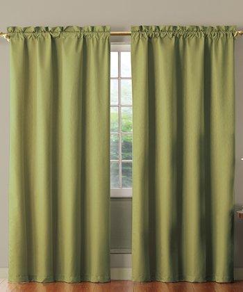 Sage Benedict Foam Back Curtain Panel