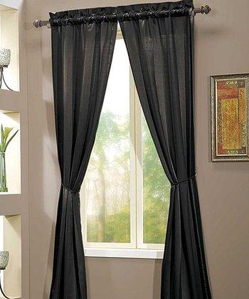 Black Berkshire Curtain Panel - Set of Two