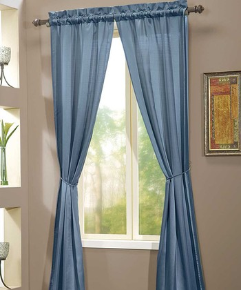 Blue Berkshire Curtain Panel - Set of Two