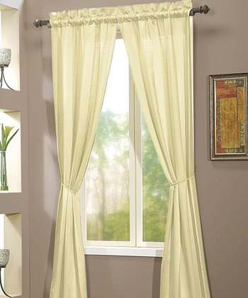 Ivory Berkshire Curtain Panel - Set of Two
