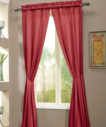 Red Berkshire Curtain Panel - Set of Two