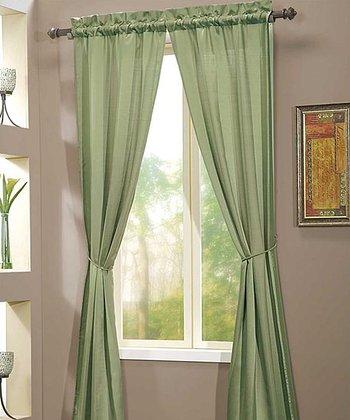 Sage Berkshire Curtain Panel - Set of Two