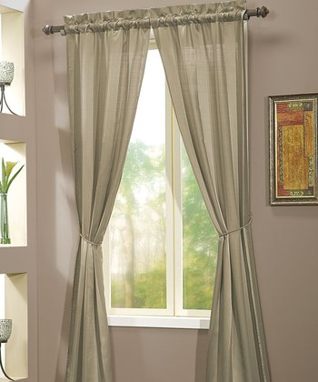 Taupe Berkshire Curtain Panel - Set of Two