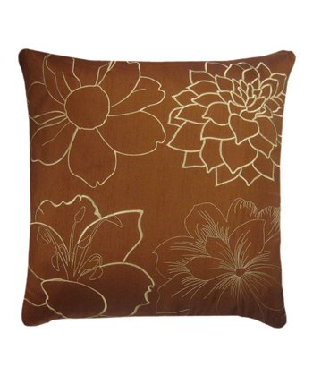 Rust & Gold Blossom Pillow