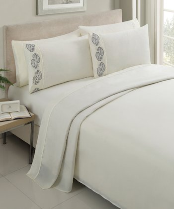 Ivory Brighton Sheet Set