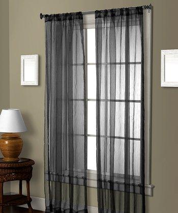 Black Cedar Curtain Panel