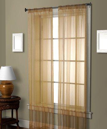 Gold Cedar Curtain Panel