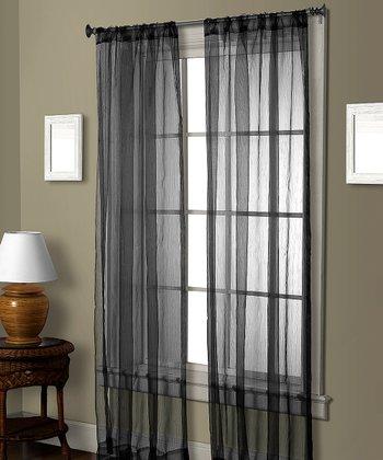 Black Pella Ceder Curtain Panel