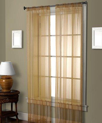 Gold Pella Ceder Curtain Panel
