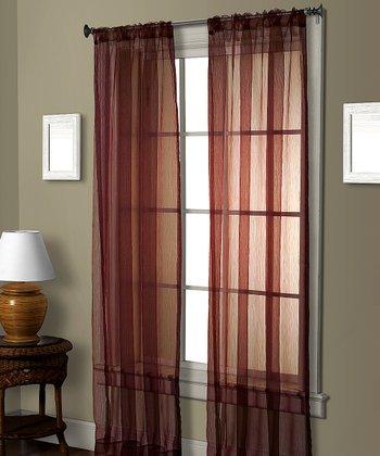 Red Pella Ceder Curtain Panel
