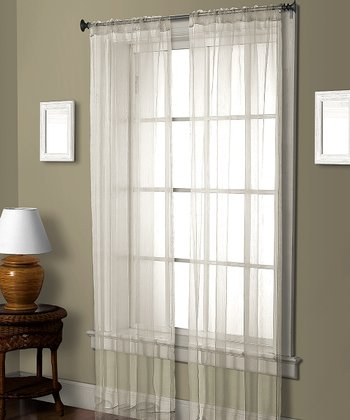 White Pella Ceder Curtain Panel