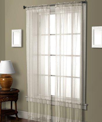 White Pella Ceder Curtain Panel