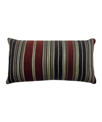 Burgundy Berline Chenille Stripe Decorative Pillow