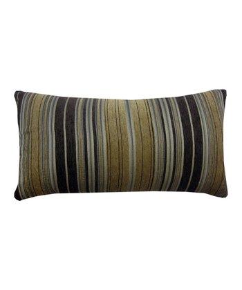 Gold Berline Chenille Stripe Decorative Pillow