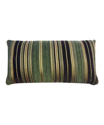 Green Berline Chenille Stripe Decorative Pillow
