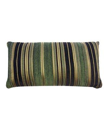 Green Berline Chenille Stripe Decorative Pillow
