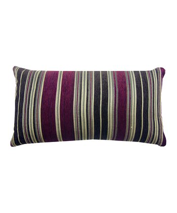 Plum Berline Chenille Stripe Decorative Pillow