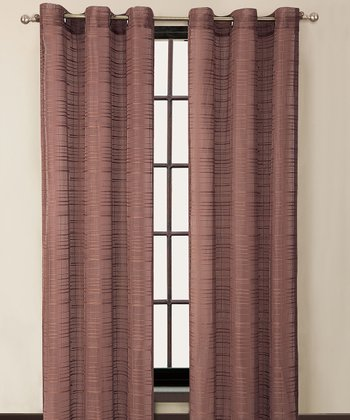 Brick Clinton Grommet Curtain Panel
