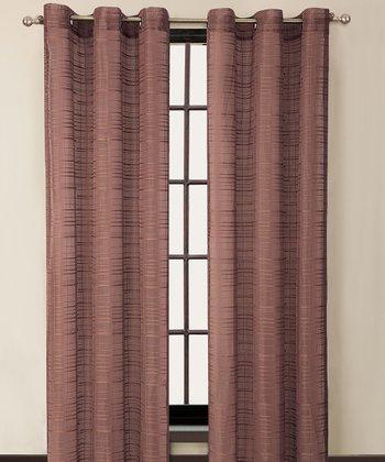 Brick Clinton Grommet Curtain Panel