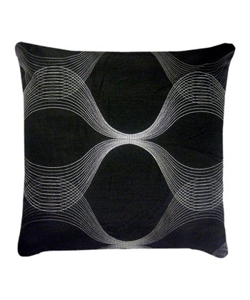 Black Clairmont Throw Pillow
