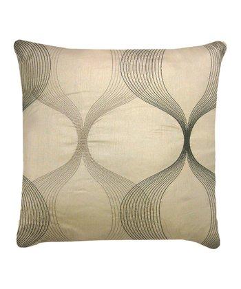 Taupe Clairmont Throw Pillow