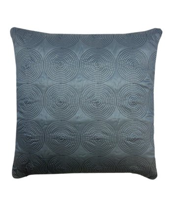 Blue Circle Line Throw Pillow