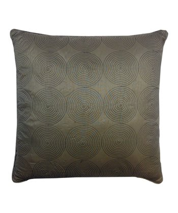 Taupe Circle Line Throw Pillow
